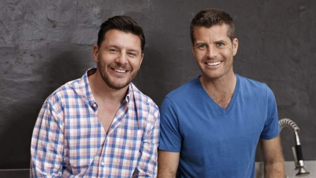 Manu Feildel and Pete Evans serve up criticism and compliments in <i>My Kitchen Rules</i>.