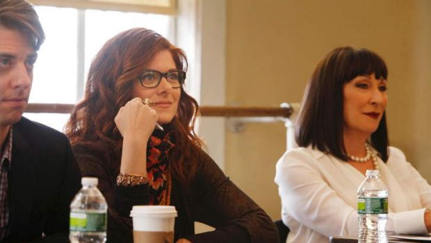 Strong female leads ... stars of <i>Smash</i> Debra Messing and Anjelica Huston.