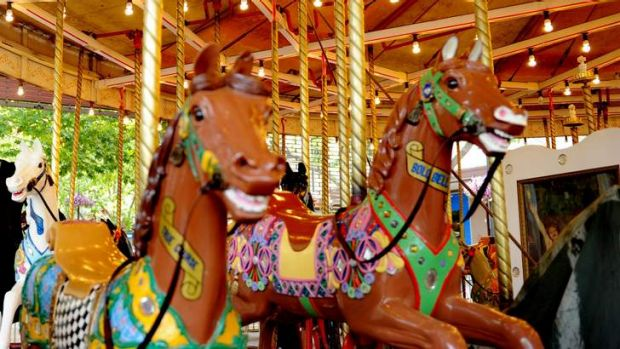 The Garema Place carousel.