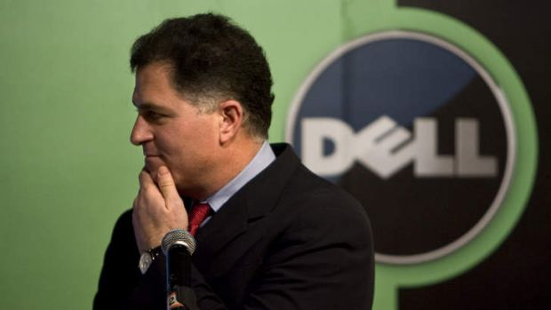 FILE - In this Thursday, March 26, 2009, file photo, Michael Dell, Chairman and CEO of Dell Inc., reacts to a question ...