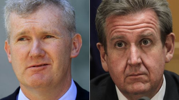 Demands … Tony Burke, left, has written to Barry O'Farrell.