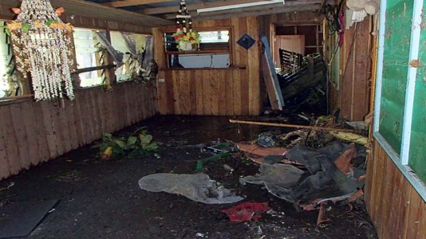 A photo taken by World Vision shows a damaged house near Lata in the Santa Cruz Islands region of the Solomon Islands.