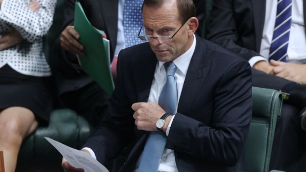 Tony Abbott in Parliament on Wednesday.
