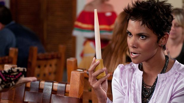 Halle Berry in a scene from the gross-out sketch comedy <em>Movie 43</em>.