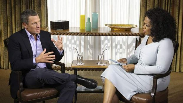It's not about the bike … Winfrey lets Armstrong off the hook. Photo: Reuters