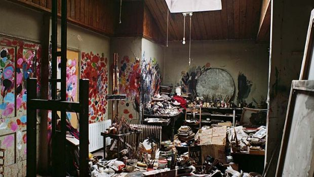Precious ... Francis Bacon's private studio at Reece Mews, South Kensington, before it was moved and reassembled at ...