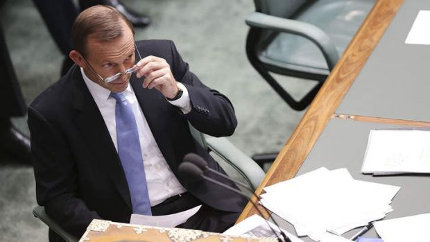 Oppostion Leader Tony Abbott during House of Representatives question time on Thursday.