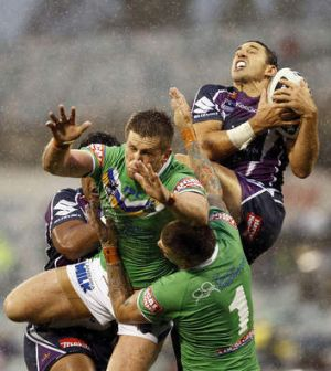 Billy Slater could make a surprise appearance against the Raiders in Geelong on Friday night.