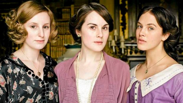 No return ... The character of Sybil (Jessica Brown Findlay, far right) also exited last season.