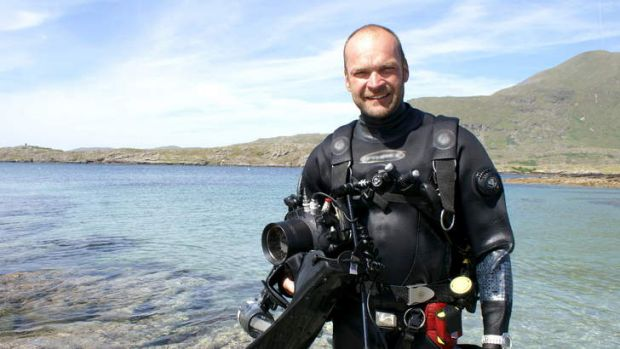 Extreme marine ... Monty Halls dives in to another coastal escapade.