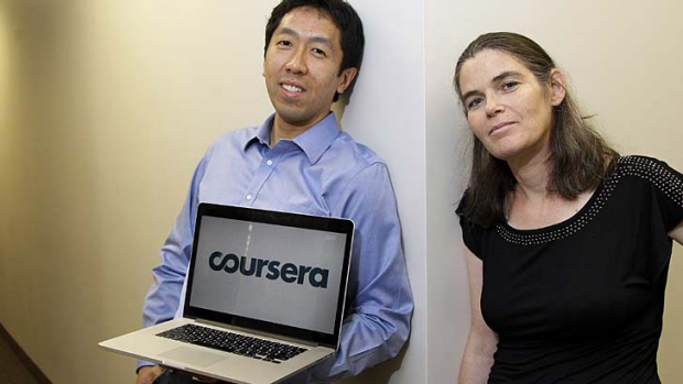 Learning not guaranteed ... Coursera founders Andrew Ng and Daphne Koller.