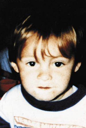 Forever young … James Bulger, aged two.