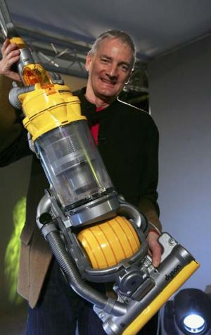 Inventor James Dyson and the eponymous cleaner.