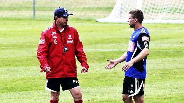 Fall out ...  Sydney FC midfielder Jason Culina and coach Frank Farina.