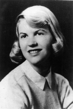 Sylvia Plath at Yale University in 1955.