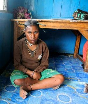 Tough love … 19-year-old AIDS patient Yeni Tabuni has already lost her husband to the disease.