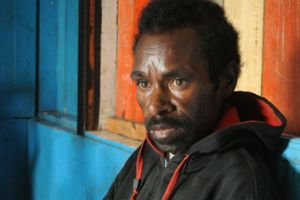 AIDS patient Penias Tabuni, from Wamena, is in his 20s and has lost two wives to the disease.