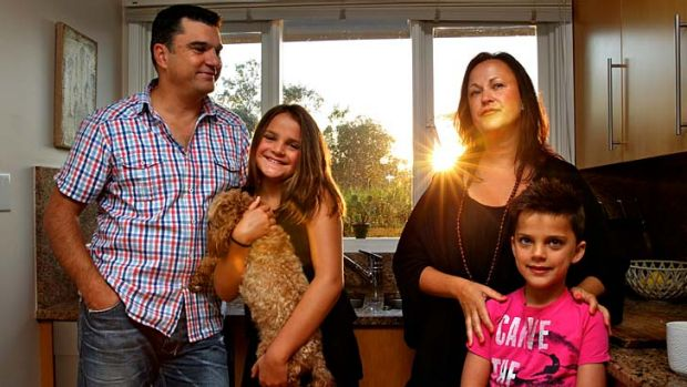 Initiative … Michael and Jacqui Nelson with Ella, 10, and Lachlan, 7, are part of a group that has pledged $50,000 ...
