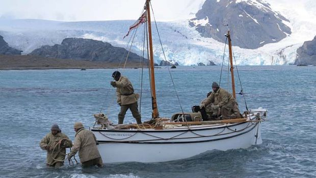 Sacrifice ... the team have left behind modern luxuries to recreate the original expedition as closely as possible.