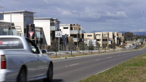 An influx of developments, such as the complexes on Flemington Road in Gungahlin, have helped push Canberra's rental ...