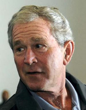 Self-portraits ... George W. Bush.