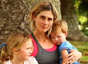 Mother of Zoe … Brodie Donegan with her son, Lachlan Ball, 2, and daughter, Ashlee, 5.