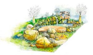 A sketch of the garden's design.