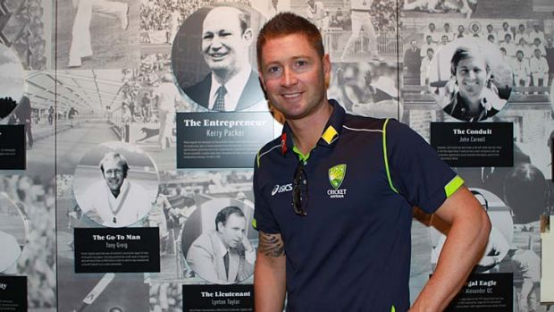 History buff … Michael Clarke at the exhibition launch.