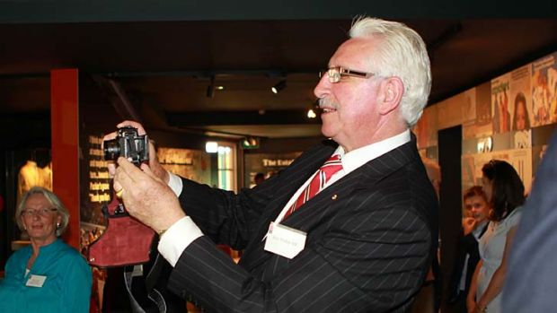 Still in the picture … Max Walker takes a trip down memory lane at the Bradman Foundation lunch to open