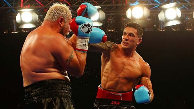 Proud … Sonny Bill Williams in action during his fight against Francois Botha.