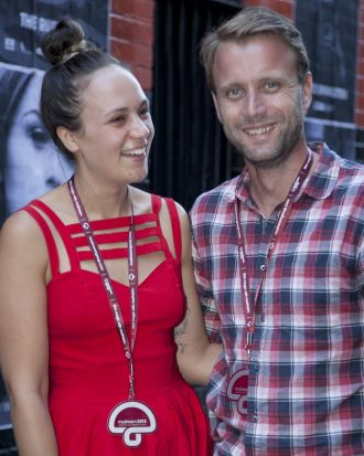 Sarah Donelly and Luke Wallis at the Mushroom 2013 party.