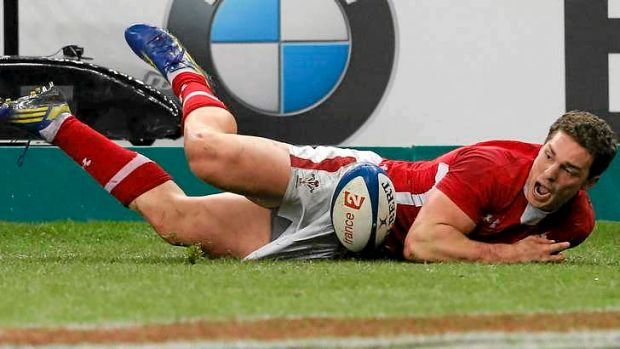 Wales winger George North scores the only as Wales snap an eight-game losing streak with victory over France.