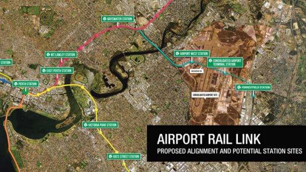 WA Liberal's proposed airport rail link will join services on the Midland Line.