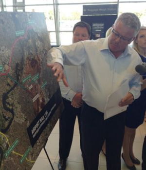Transport Minister Troy Buswell said the airport rail link would be built by 2018.