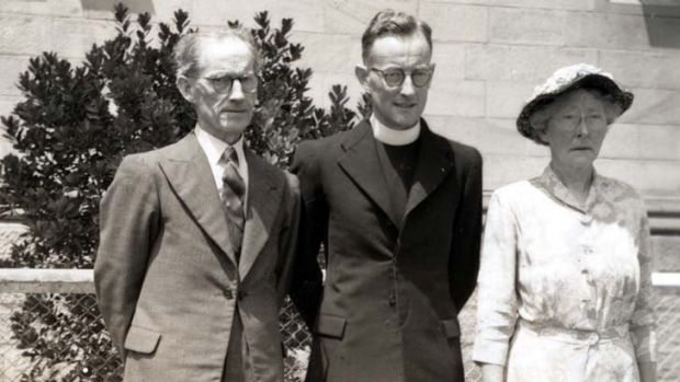 Early days ... Tom O'Donovan with his parents.