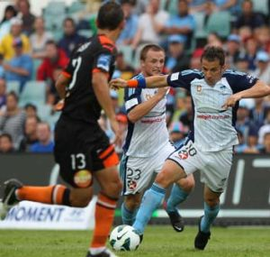 Alessandro Del Piero dribbles his way upfield.