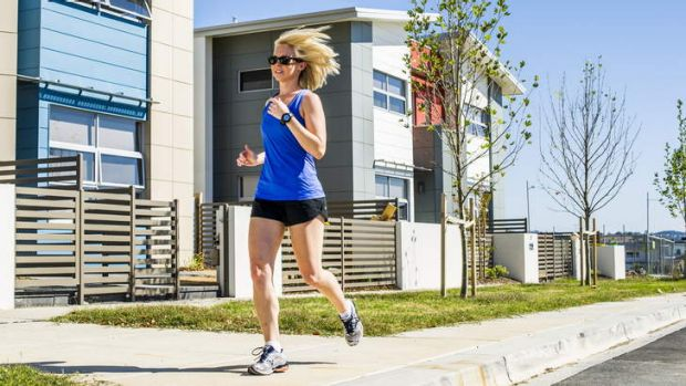 Hayley Burton of Crace has already raised over $3000 ahead of the Canberra Times Marathon in April.