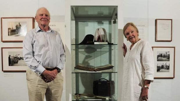 Mark and Margot Burrell at the But Once in a History exhibition. Mark has pleasant memories of his grandparents Lord and ...