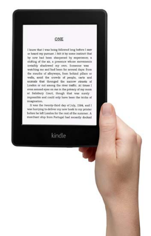 Amazon's Kindle Paperwhite.