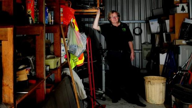 Chief Operations officer of All Bids, Richard Hume at Storage Shed Queanbeyan. The entire contents of abandoned storage ...