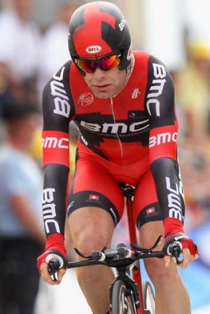 Facing a fitness test … Cadel Evans.