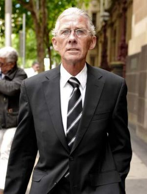 Doctor James Latham Peters leaving court after pleading guilty to 55 counts of infecting patients Hepatitis C while they ...