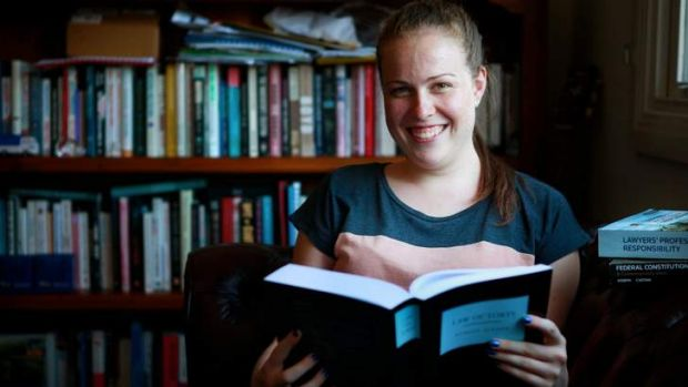 Hitting the books: Monash arts/law student Jemima Roe believes it depends on the individual as to how much time it takes ...