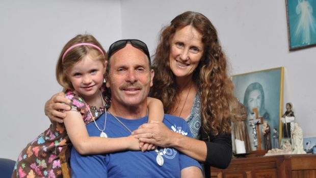 Peter and Sue Hill with daughter Claire.