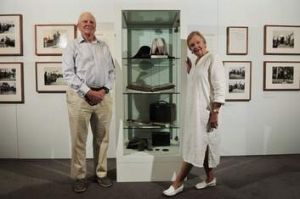 Mark and Margot Burrell at the Once in a History Exhibition at Parliament House.