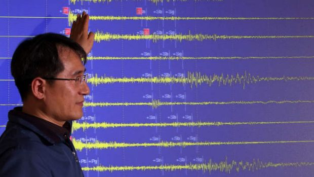 A South Korean official explains the seismic waves recording North Korea's detonation of a miniaturized nuclear device ...