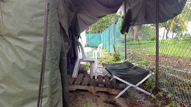 Photos smuggled out of the Manus Island show the conditions at the island's processing camp.