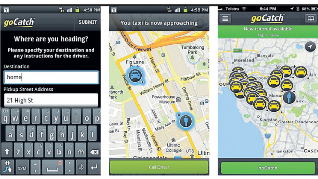 The goCatch ordering form and location maps allow the fare and the driver to know each other's whereabouts in real time.