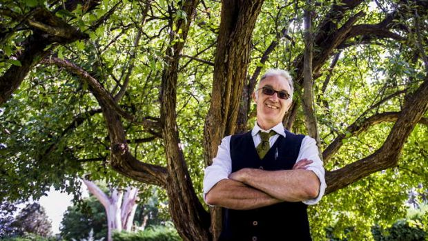 Spiegeltent owner, David Bates, at the Senate Rose Garden at Old Parliament House, where The Famous Spiegel Garden will ...