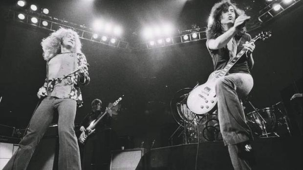Led Zeppelin live in concert.